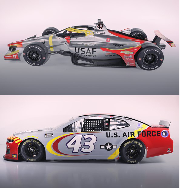 USAF Recruiting Service unveils Tuskegee Airmen P-51 Mustang paint scheme for Indy 500, NASCAR races
