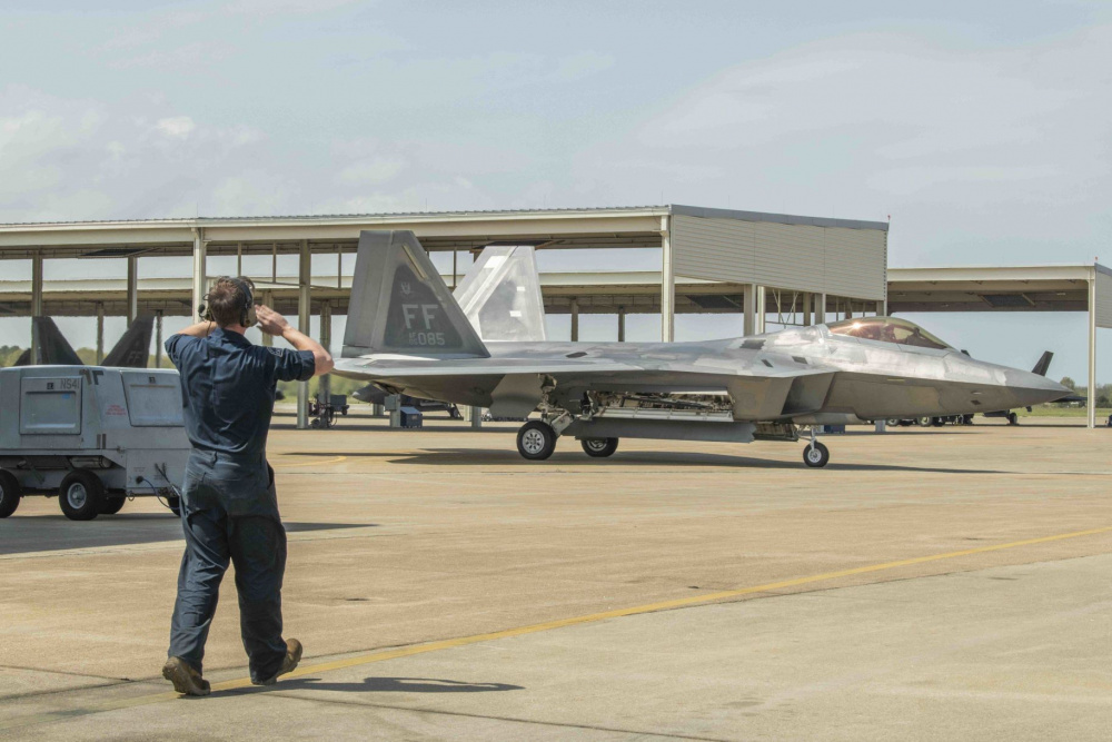 F-22 Raptor #05-4085 is back flying again after January 2020 landing gear mishap
