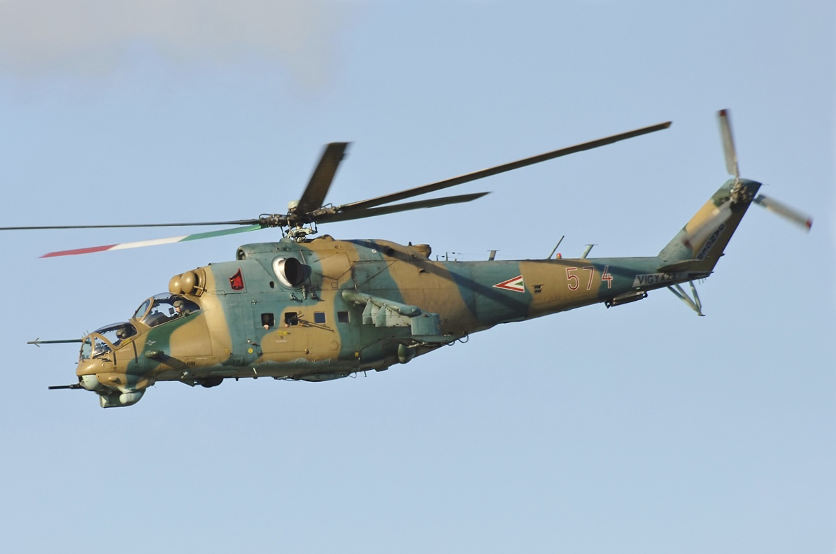 The Hungarian Air Force female Mi-24 pilot who scored two simulated gun kills against US Air National Guard F-15C Eagle fighter jets