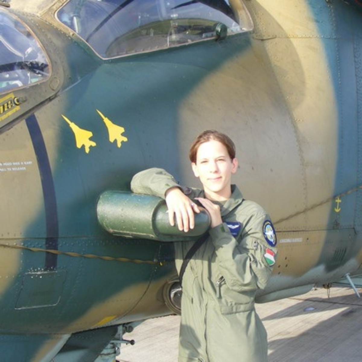 The Hungarian female Mi-24 pilot who scored two simulated gun kills against US Air National Guard F-15C Eagle fighter jets