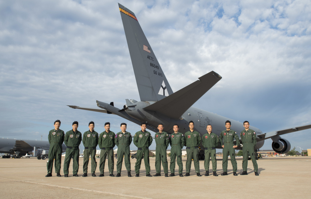 The first 12 JASDF aircrew students have started their training on operating the KC-46 Pegasus